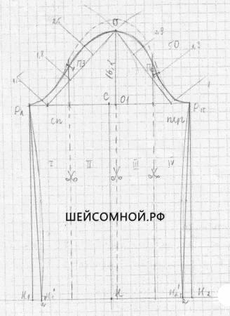 Построение выкройки платья с запахом