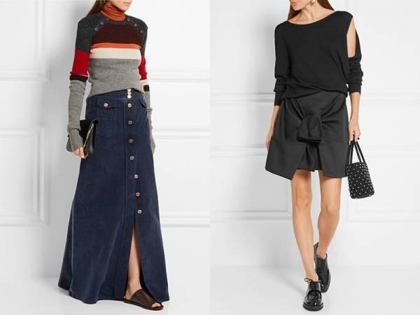 Выкройка юбки с карманами