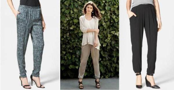 Выкройка летних брюк