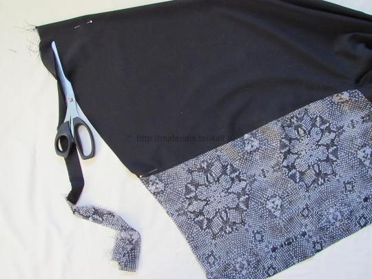 Выкройка блузки из шифона