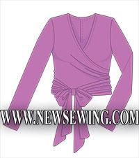 Выкройка блузы с запахом для женщин