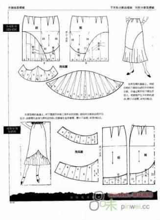 Выкройка юбки с драпировкой