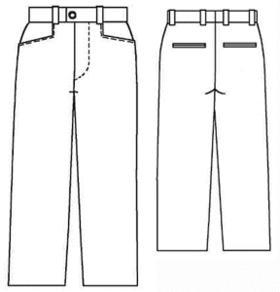 Выкройка основа брюк для мужчин