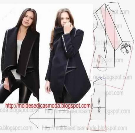 Выкройка женской зимней куртки