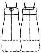 Выкройка платье лодочка