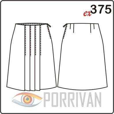 Выкройка прямой юбки на пуговицах