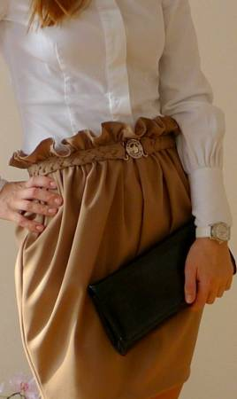 Юбка тюльпан с карманами выкройка