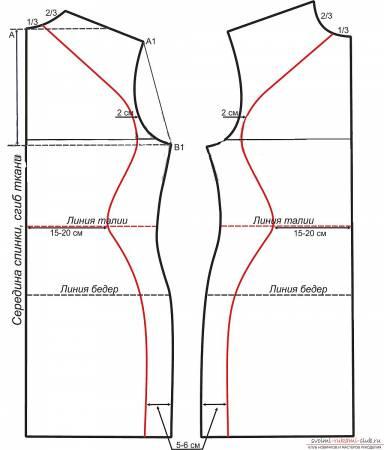 Выкройка теплого платья с длинным рукавом
