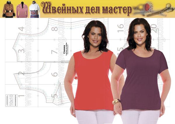 Выкройка женской футболки