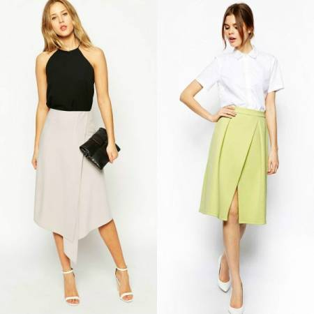 Ассиметричная юбка с запахом выкройка
