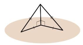 Перпендикуляр к наклонной линии