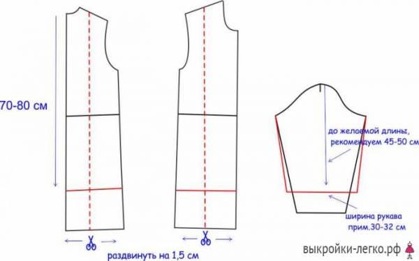 Выкройка платья бохо с рукавами