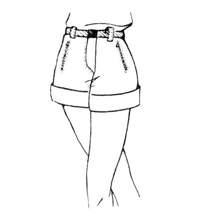Выкройка коротких шорт